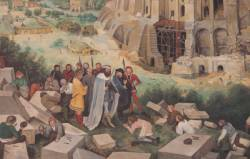 """Place Mendès-France : fresque """"La Tour de Babel"""" d'après Bruegel"""
