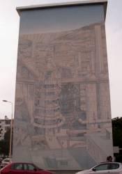 Quartier des Etats-Unis : fresque des Hauts fourneaux