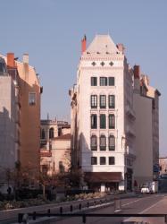 Immeuble Blanchon depuis le quai Fulchiron