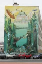 """Fresque de la """"Cité idéale du Québec"""""""