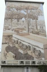 Fresque représentant des habitations