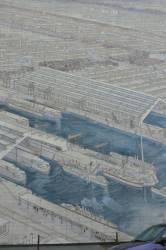 Fresque représentant une vue des usines
