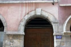 [10 rue du Boeuf : porte et imposte]