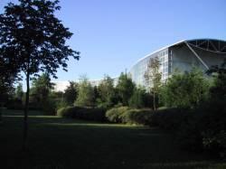 La Cité scolaire internationale vue du Parc de Gerland
