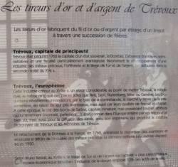 """Présentation de l'exposition """"Les tireurs d'or et d'argent de Trévoux"""""""