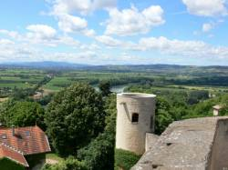 Le Val de Saône depuis le château fort de Trévoux