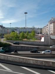 Le centre d'échanges vu depuis le quai de Perrache