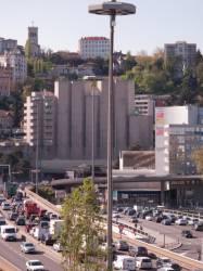 Le tunnel sous Fourvière vu depuis la terrasse ouest du centre d'échanges de Perrache