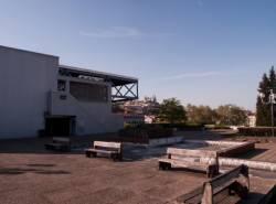 Fourvière vu depuis la terrasse est du centre d'échanges de Perrache