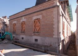 La Manufacture des Tabacs, la maison du directeur, travaux du T4, vus depuis le cours Gambetta