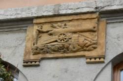 """[Enseigne """"Au canon d'Or"""", rue Bellecordière, 1624]"""