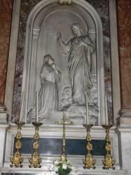 Apparition du Christ montrant son Sacré-Coeur à Marguerite-Marie Alacoque en 1675, par Fabisch en 1877.