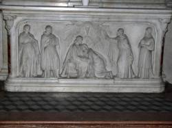 Devant d'autel : L'eucharistie.
