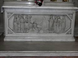 Devant d'autel : la résurection de Lazare.