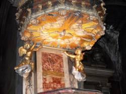 Chaire baroque détail