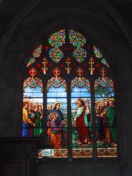 Collégiale Notre-Dame-des-Marais : vitrail