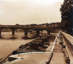 Lyon, La Saône et le pont de Nemours
