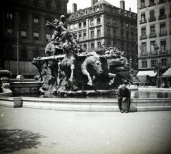 La Fontaine Bartholdi sur la place des Terreaux