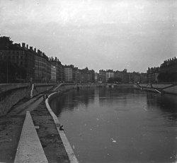 Lyon, la Saône et le quai Saint-Vincent