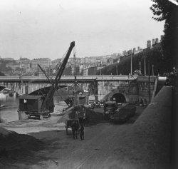 Travaux près du pont de Nemours