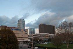 La Bibliothèque de la Part-Dieu et le Centre commercial vus de la Tour EDF