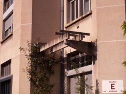 Hôpital Edouard-Herriot : un des pavillons (détail)