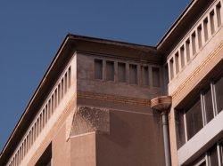 Hôpital Edouard-Herriot : l'un des pavillons (détail)