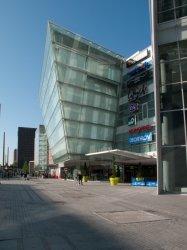 Le Centre commercial de la Part-Dieu, l'entrée sur le boulevard Vivier-Merle