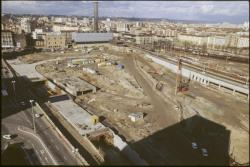 [Construction de la gare La Part-Dieu]