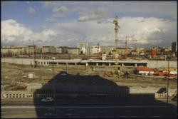 [Construction de la gare La Part-Dieu : Passage du premier TGV]