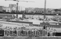 [Le paysage après la démolition de l'ancienne gare de Lyon Part-Dieu]