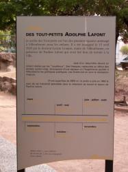 Le Jardin des Tout-Petits à Villeurbanne : le panneau à l'entrée