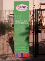 Terrain en friche sur la rue Léon-Chomel converti en Jardin éphémère