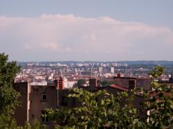 Vénissieux vu depuis le haut de la Montée de la Grande-Côte