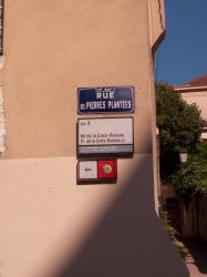 Plaques signalétiques rue des Pierres Plantées