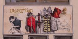 La Fresque du Foyer sur le mur du Foyer Notre-Dame des Sans-Abri