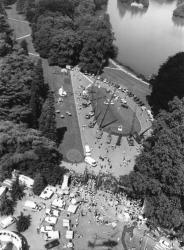 Vue aérienne du Parc de la Tête d'Or