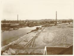 [A Gerland, construction du port Edouard Herriot avant 1939]