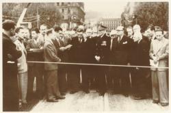 [Inauguration du pont Lafayette par le président Edouard Herriot]