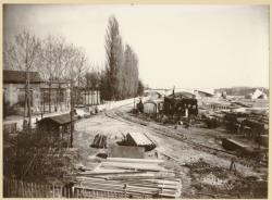 [Saint-Clair, reconstruction du pont, vers 1945]