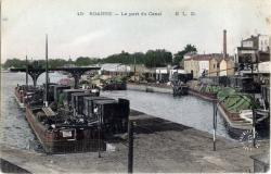 Roanne : Le port du Canal.