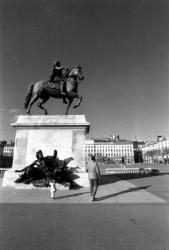 La statue équestre et la place bellecour
