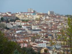 Vue des 1er et 4e arrondissements de Lyon