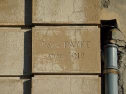 Signature gravée de l'architecte Louis Payet