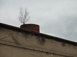 Reste d'une cheminée de l'usine des Carburateurs Zénith, chemin Feuillat