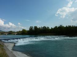 Le Rhône vers Sault-Brénaz