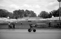 [Championnats du monde de cyclisme sur piste (1989) : entraînement sur la piste du vélodrome Tête-d'Or]