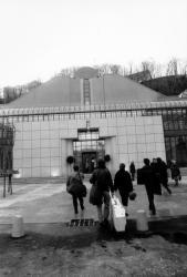 l'arrivée des élèves au Conservatoire National supérieur de Musique