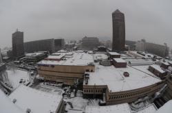 [Le quartier de la Part-Dieu sous la neige]