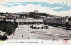 Place Bellecour et coteau de Fourvière